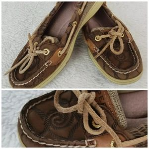Sperry Top Sider Womens Size 6 Brown Boat Shoe